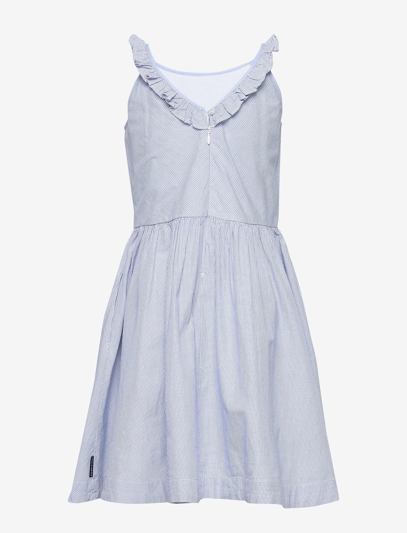 Polarn O. Pyret - Dress Woven w Frill School - mekot - snow white