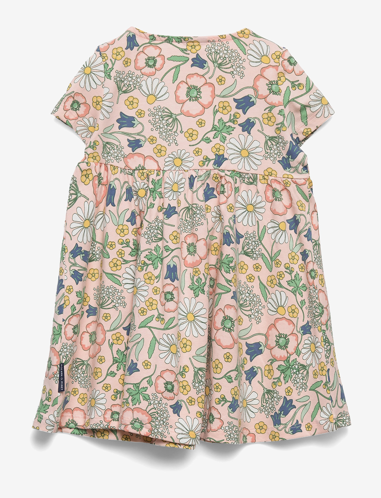 Polarn O. Pyret - Dress Jersey AOP Preschool - mekot - impatiens pink