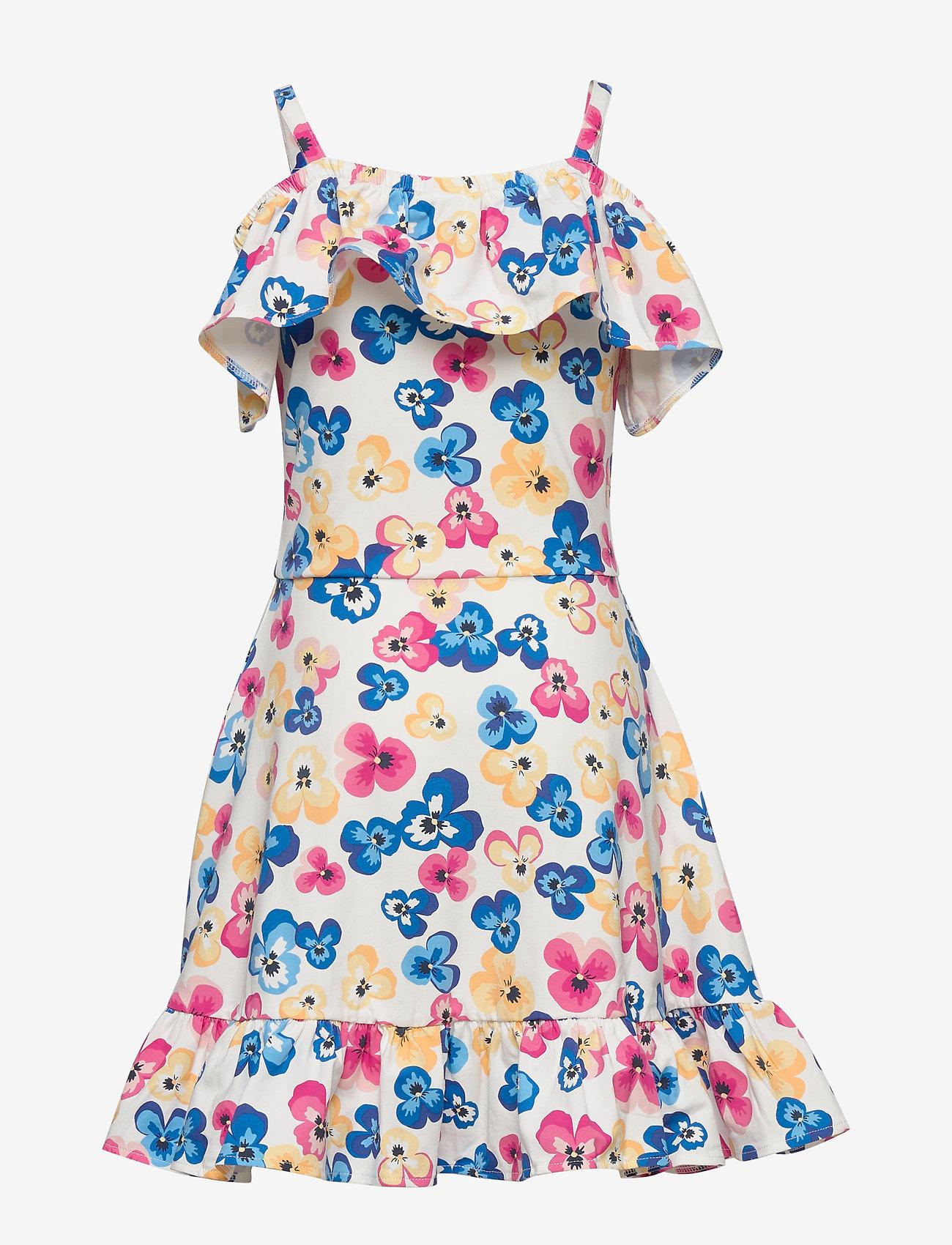 Polarn O. Pyret - Dress Jersey AOP School - mekot - snow white