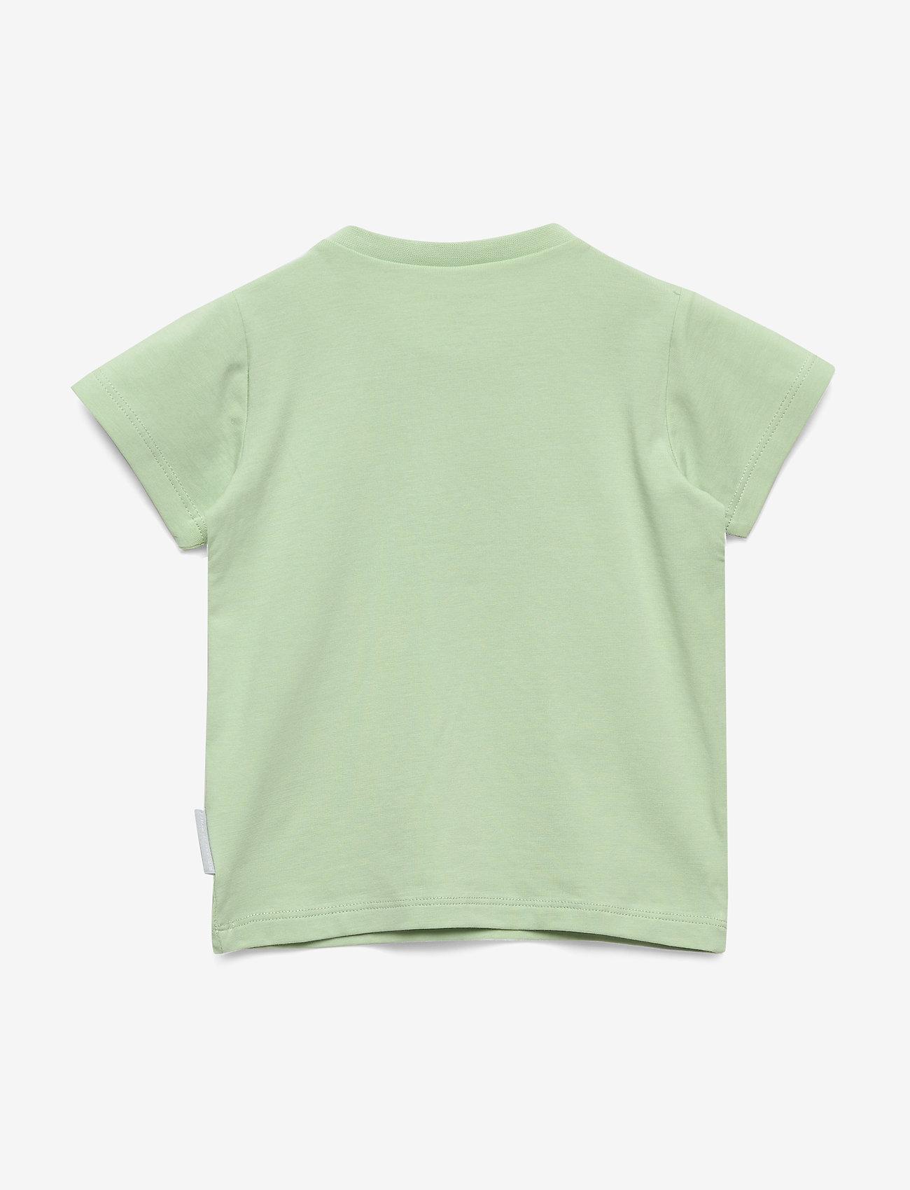 Polarn O. Pyret - T-shirt S/S Baby - cartoon - smoke green