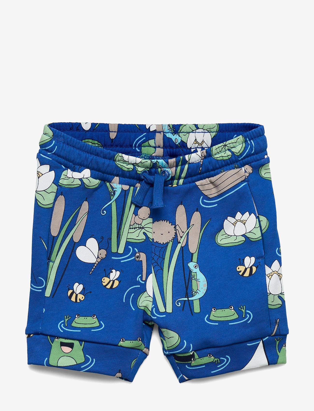 Polarn O. Pyret - Shorts AOP Preschool - shortsit - bachelor button