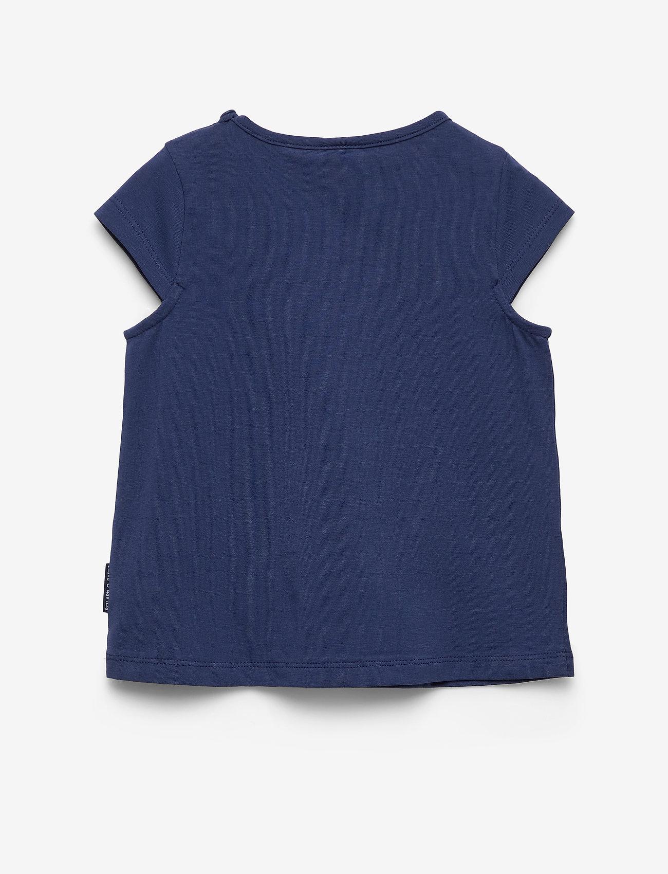 Polarn O. Pyret - Top s/s applique Preschool - lyhythihaiset - medieval blue