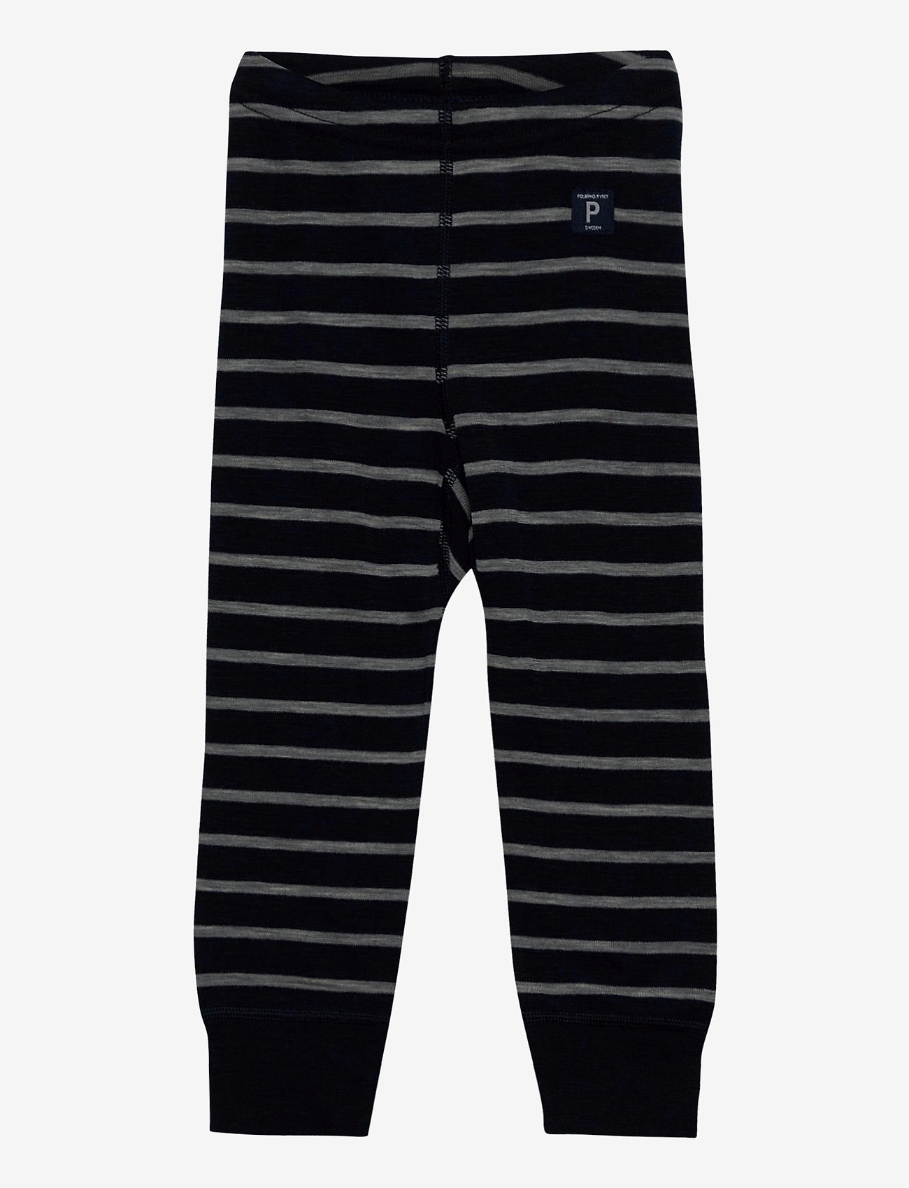 Polarn O. Pyret - Long Johns Wool Striped Baby - bovenkleding - dark sapphire - 0