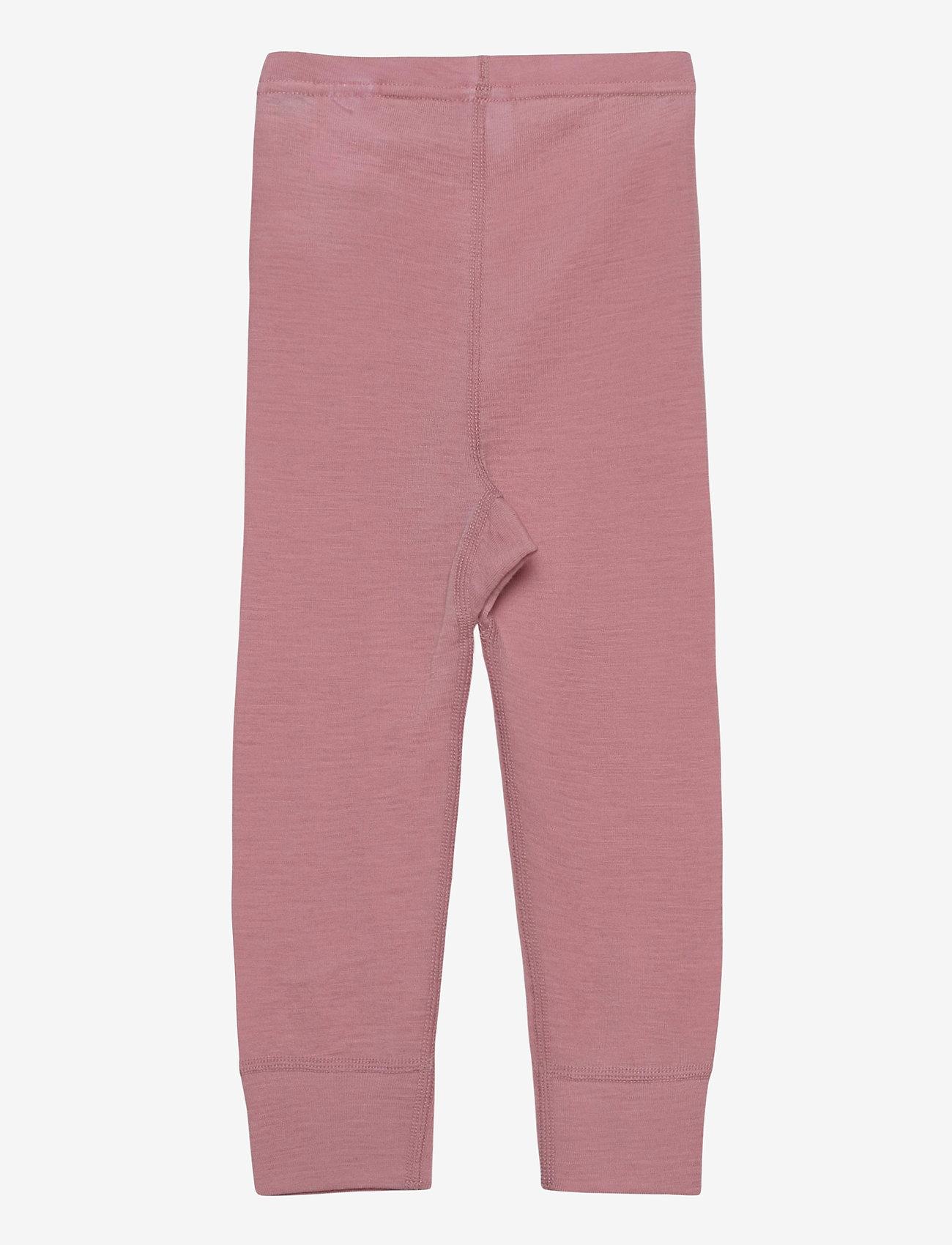 Polarn O. Pyret - Long Johns Wool Solid Baby - onderkleren - bridal rose - 1