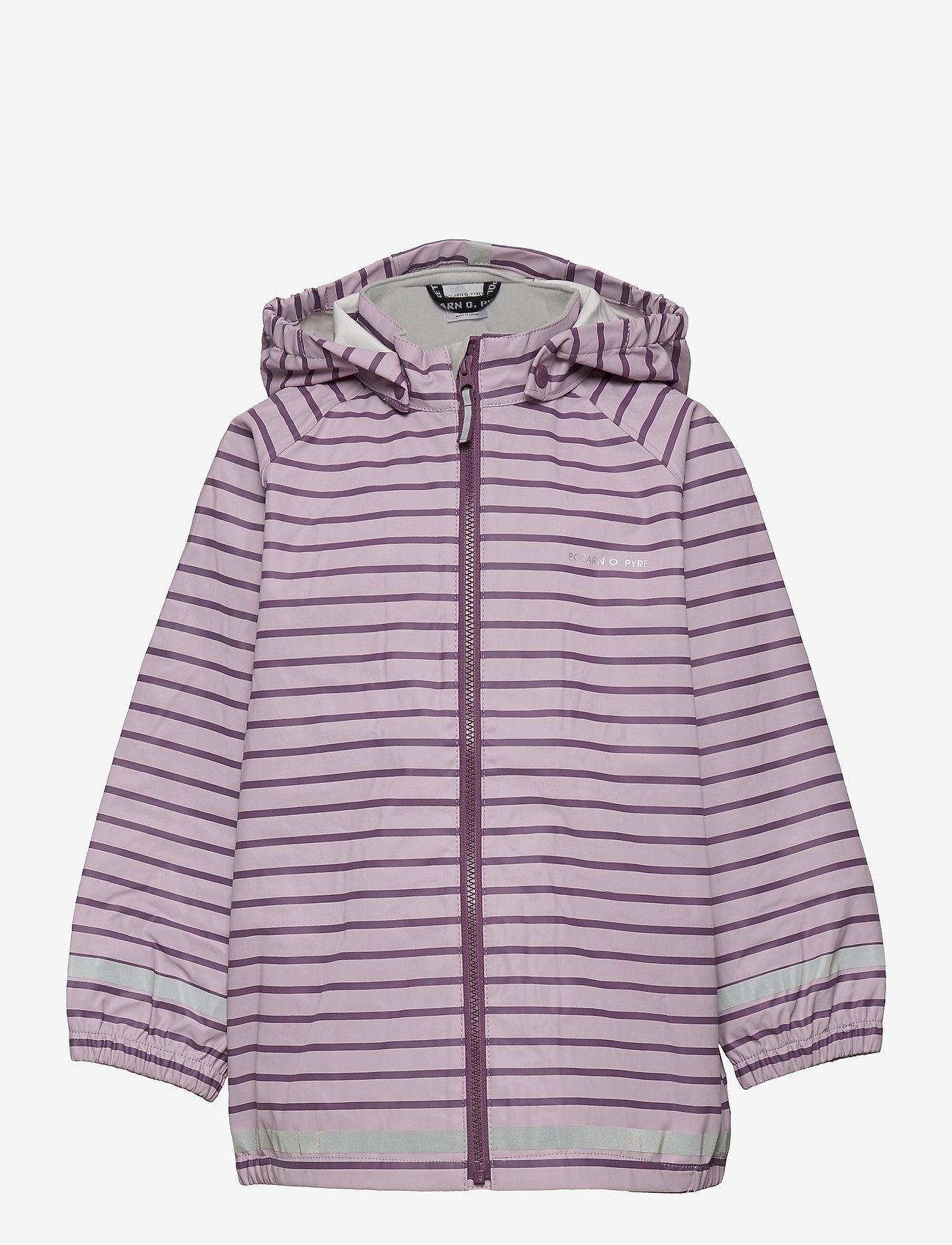 Polarn O. Pyret - Rain Jacket Stripe Preschool - overall - dawn pink - 0