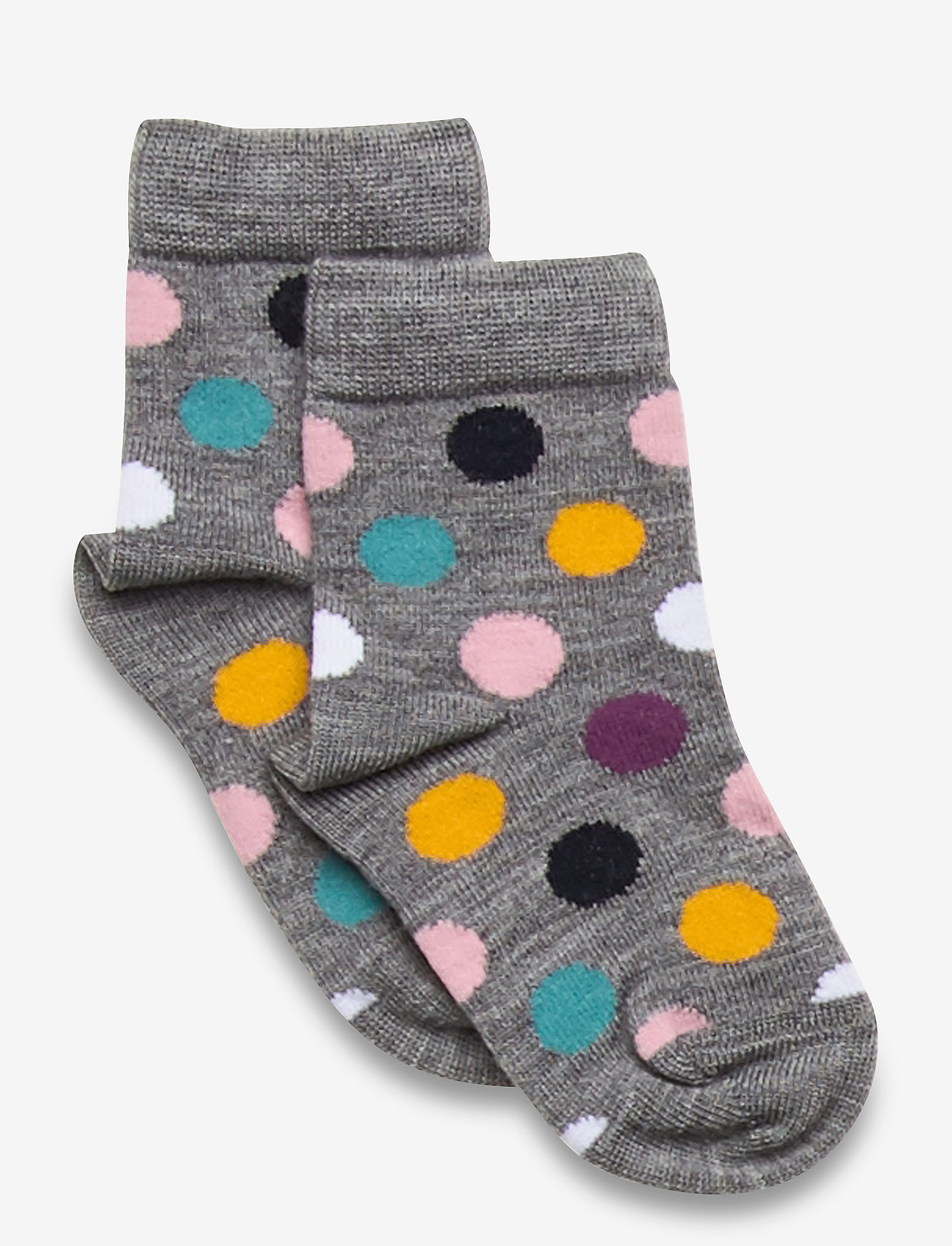 Polarn O. Pyret - Socks Wool Jaquard Preschool - strømpebukser - greymelange - 0