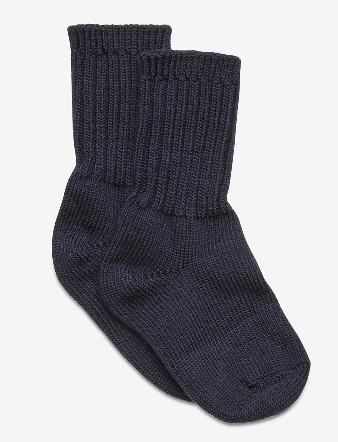 Polarn O. Pyret - Thick Wool Sock Preschool - sokken - dark sapphire - 0