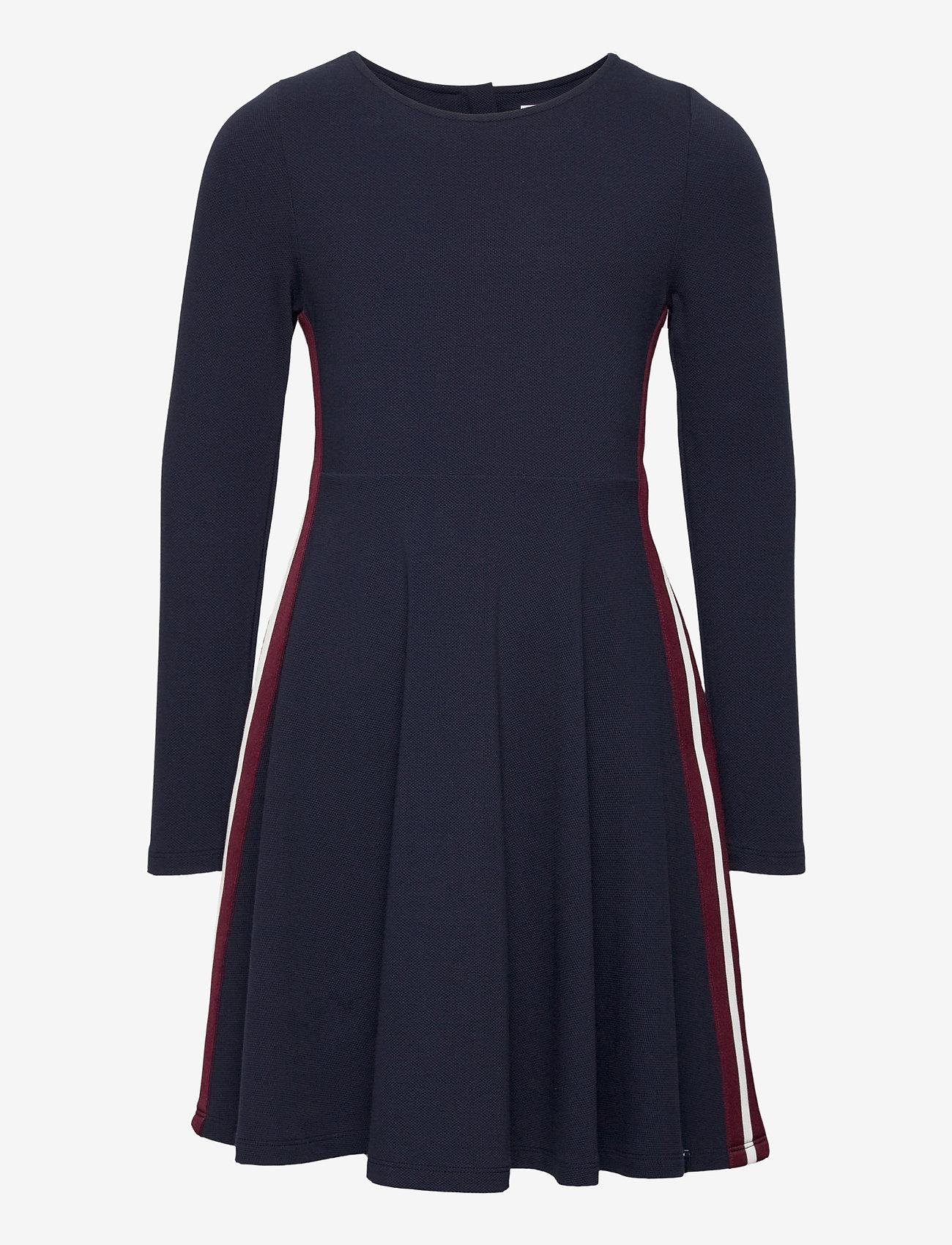 Polarn O. Pyret - Dress l/s Jersey School - robes - dark sapphire - 0