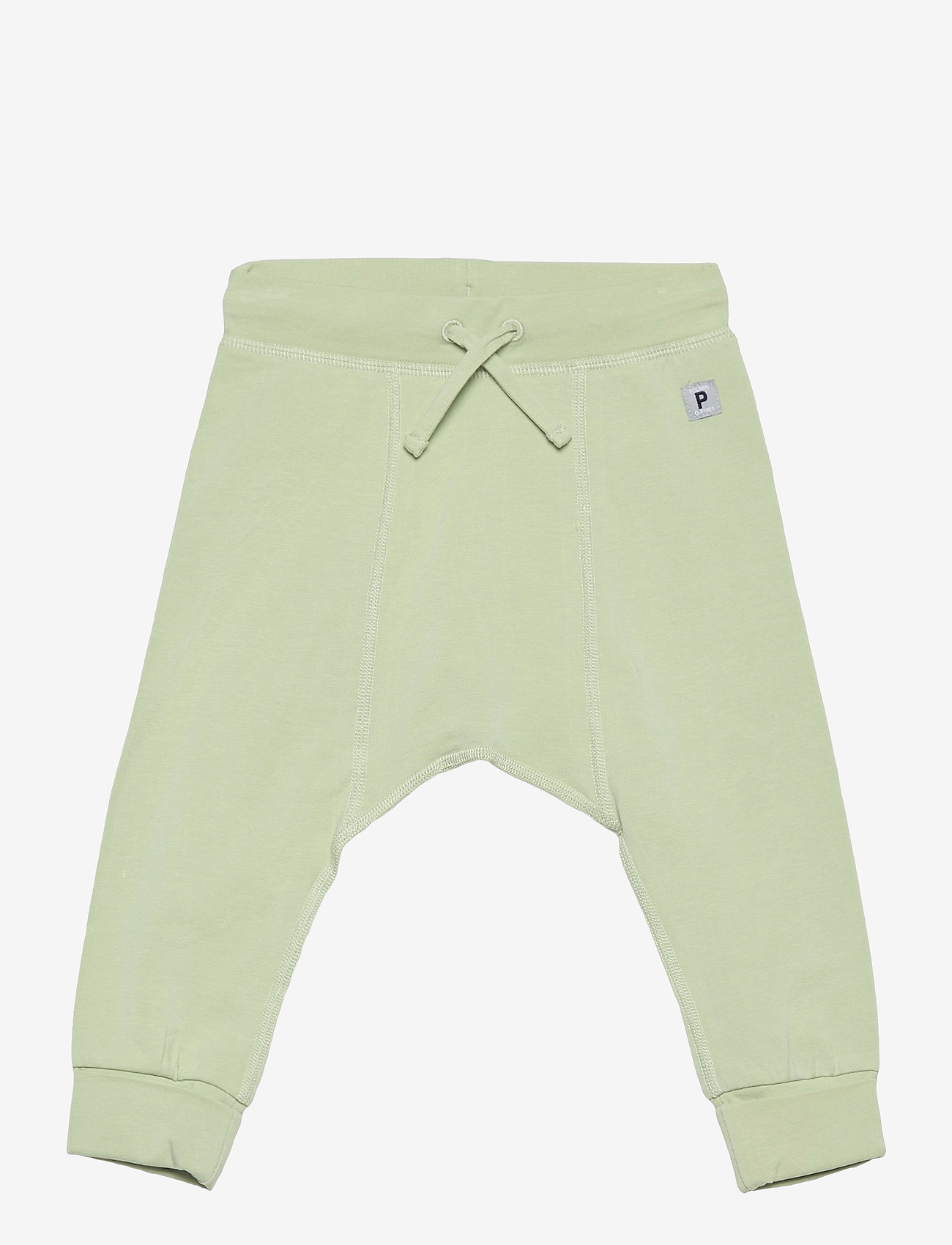 Polarn O. Pyret - Trousers Solid Baby - trousers - smoke green - 0