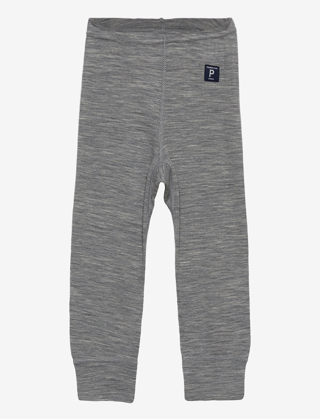 Polarn O. Pyret - Long Johns Wool Solid Baby - basislag - greymelange - 0