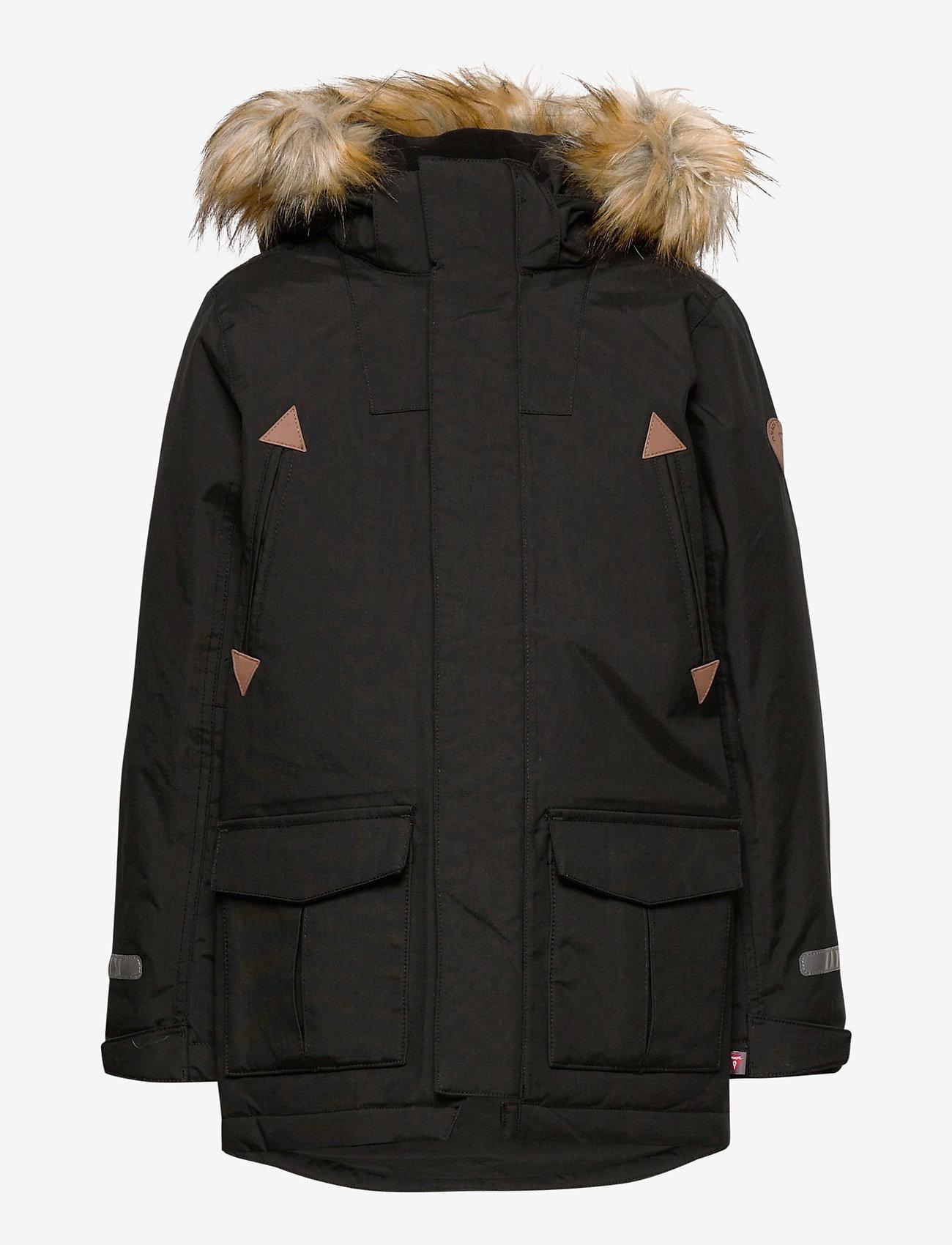 Polarn O. Pyret - Jacket Padded w Hood School - parkas - black - 0