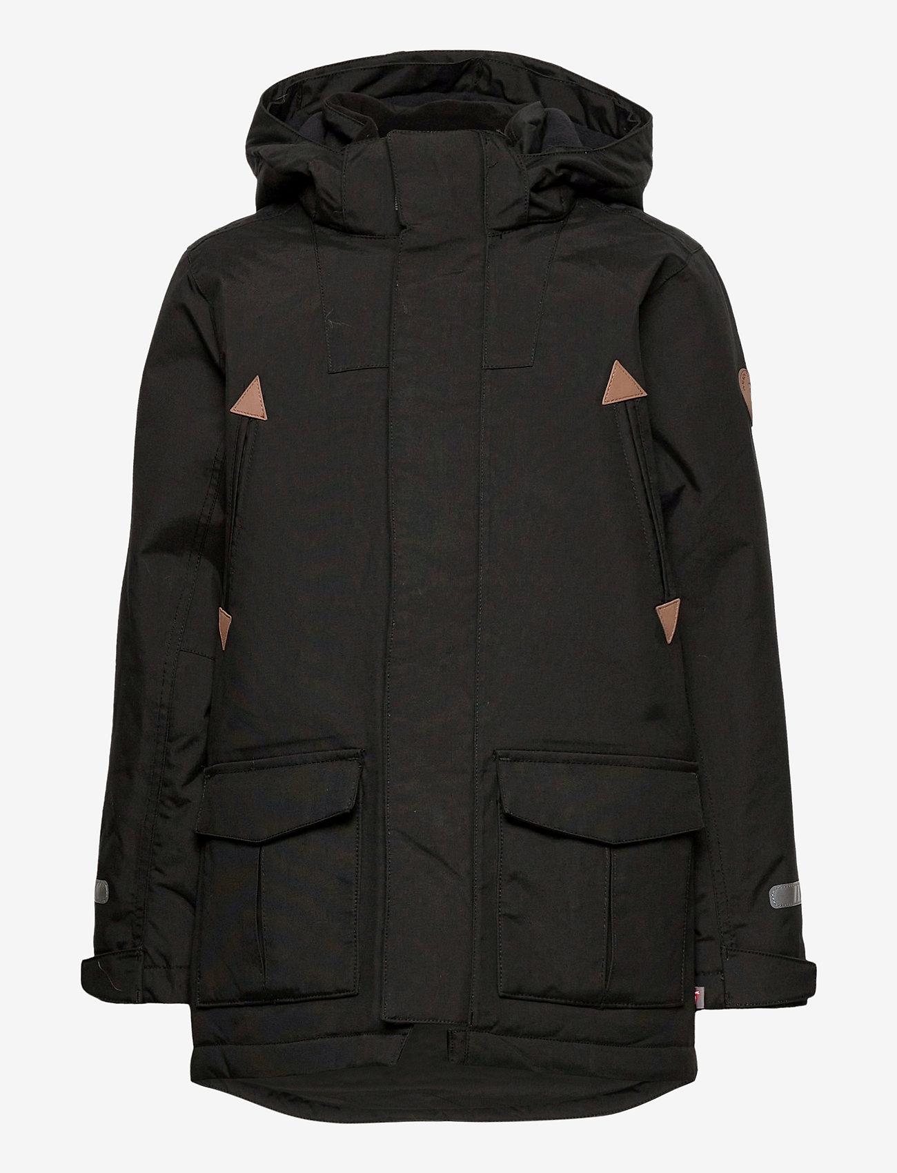 Polarn O. Pyret - Jacket Padded w Hood School - parkas - black - 1