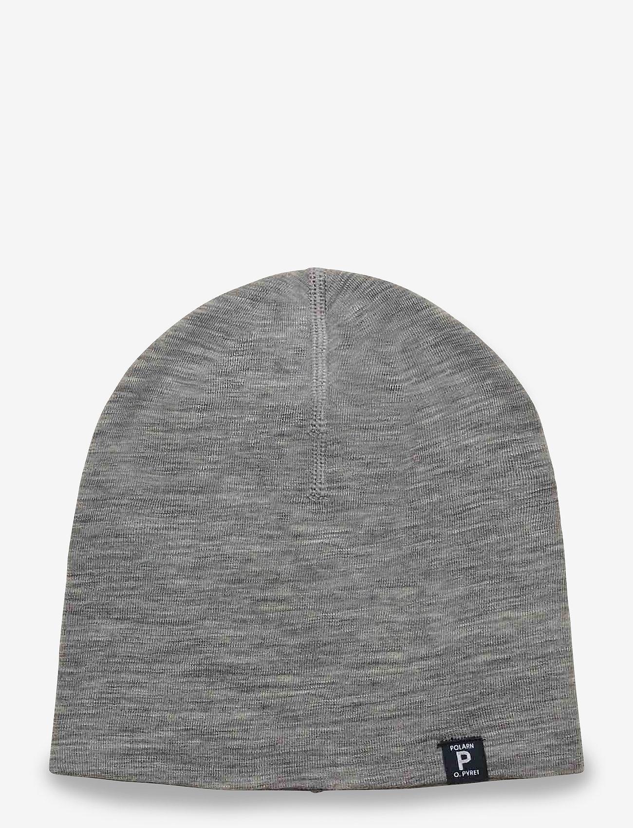 Polarn O. Pyret - Cap Wool Solid Baby - hoeden & handschoenen - greymelange - 0