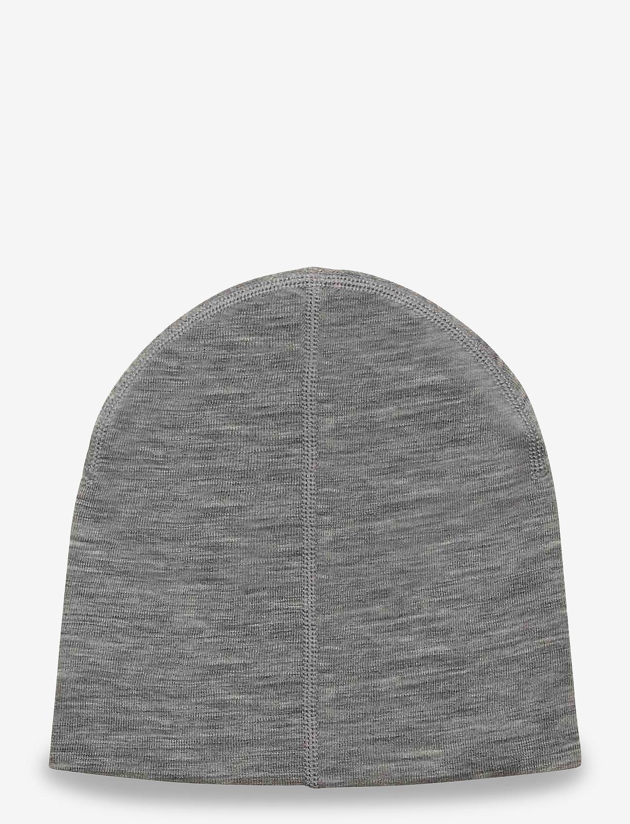 Polarn O. Pyret - Cap Wool Solid Baby - hoeden & handschoenen - greymelange - 1