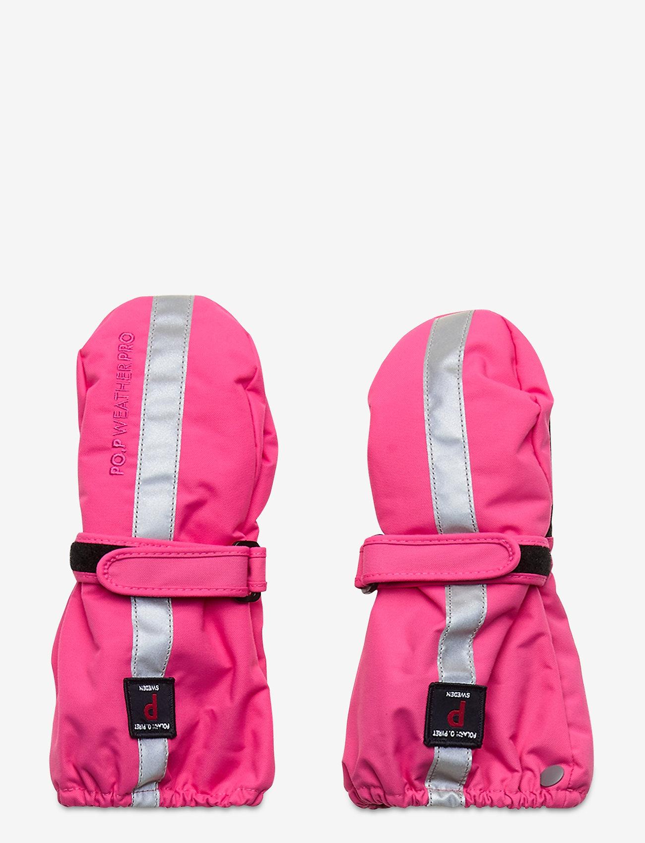 Polarn O. Pyret - Mitten Solid Baby - hatte og handsker - fandango pink - 0