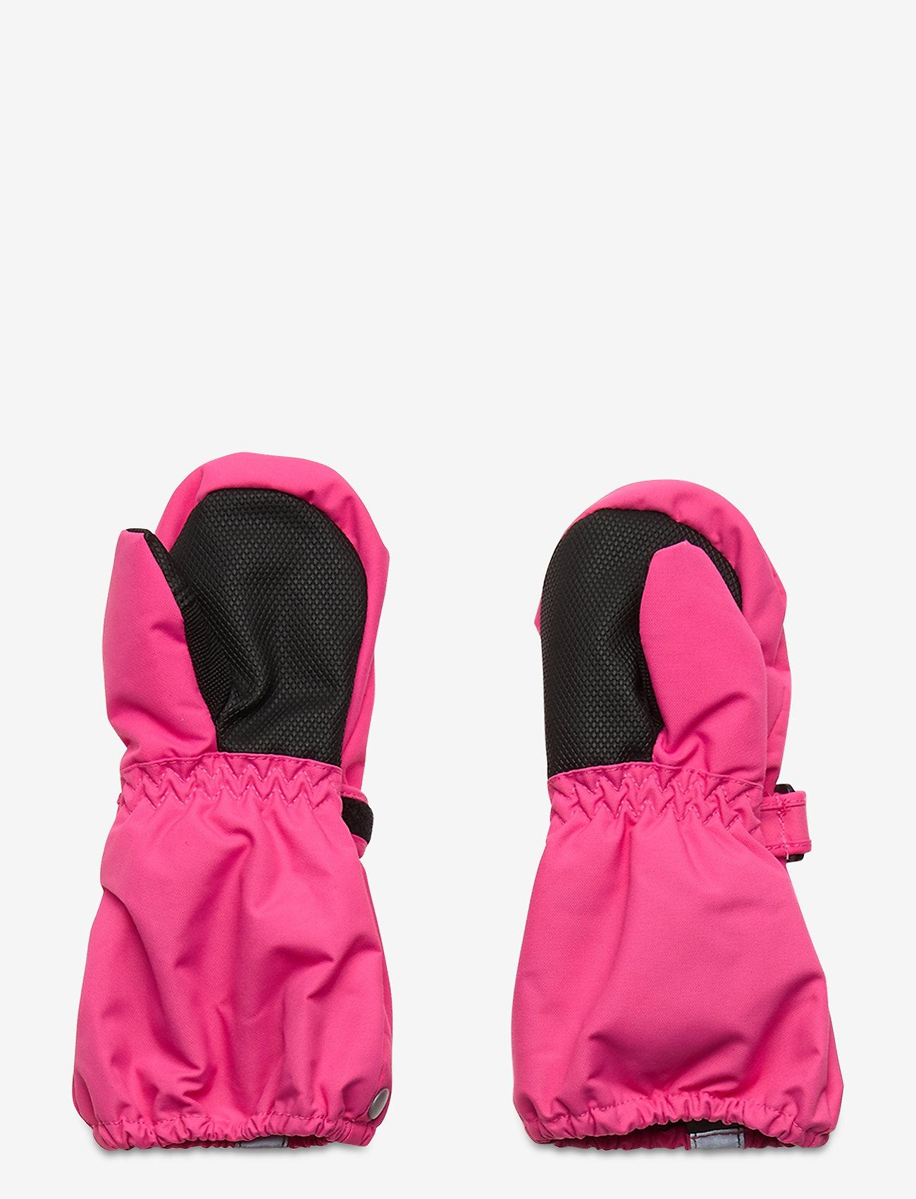 Polarn O. Pyret - Mitten Solid Baby - hatte og handsker - fandango pink - 1
