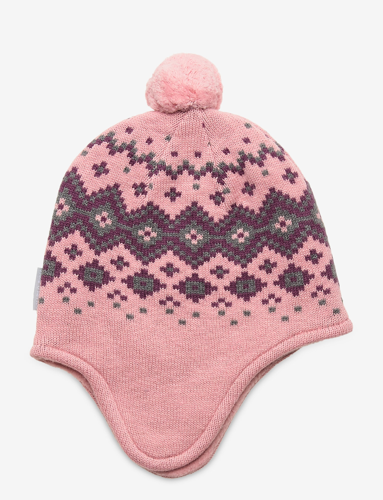 Polarn O. Pyret - Cap Knitted Baby - hoeden & handschoenen - bridal rose - 0