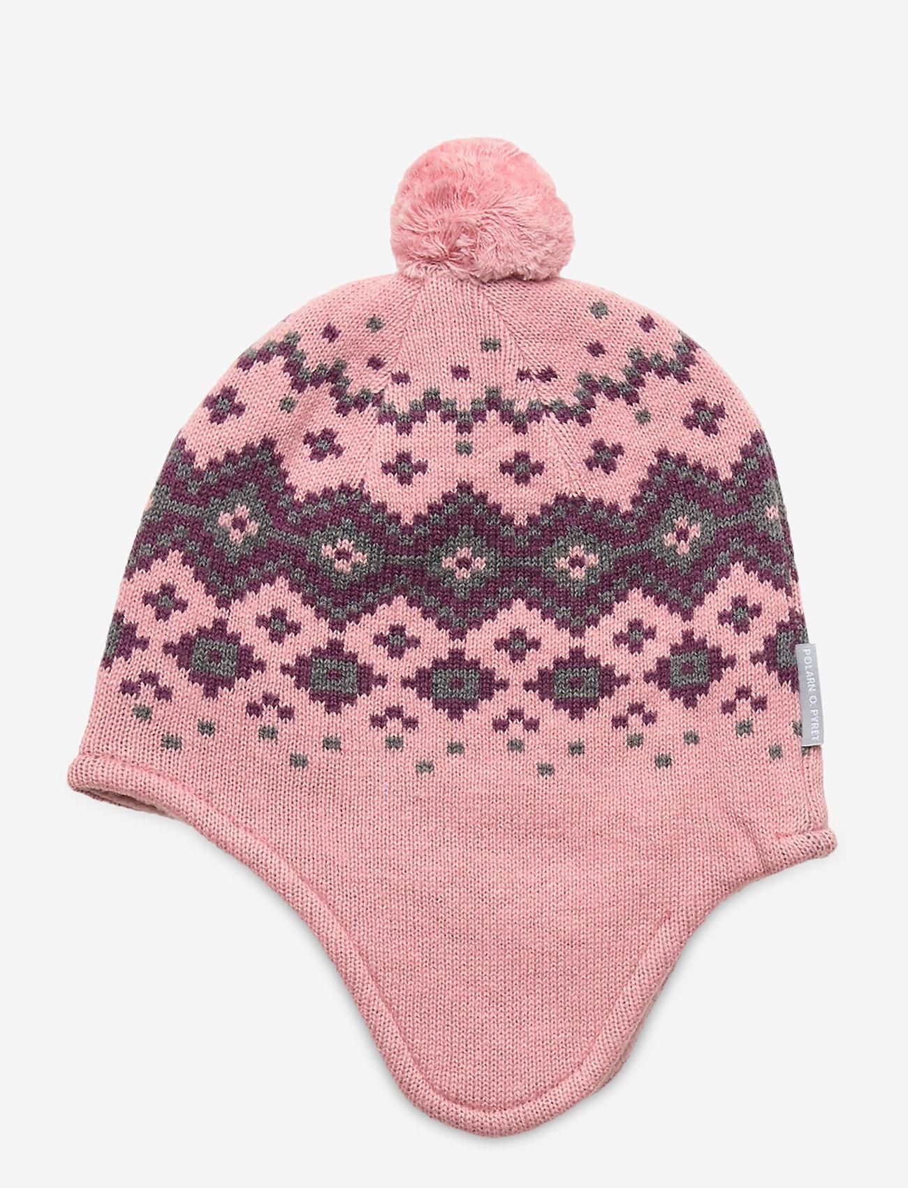 Polarn O. Pyret - Cap Knitted Baby - hoeden & handschoenen - bridal rose - 1