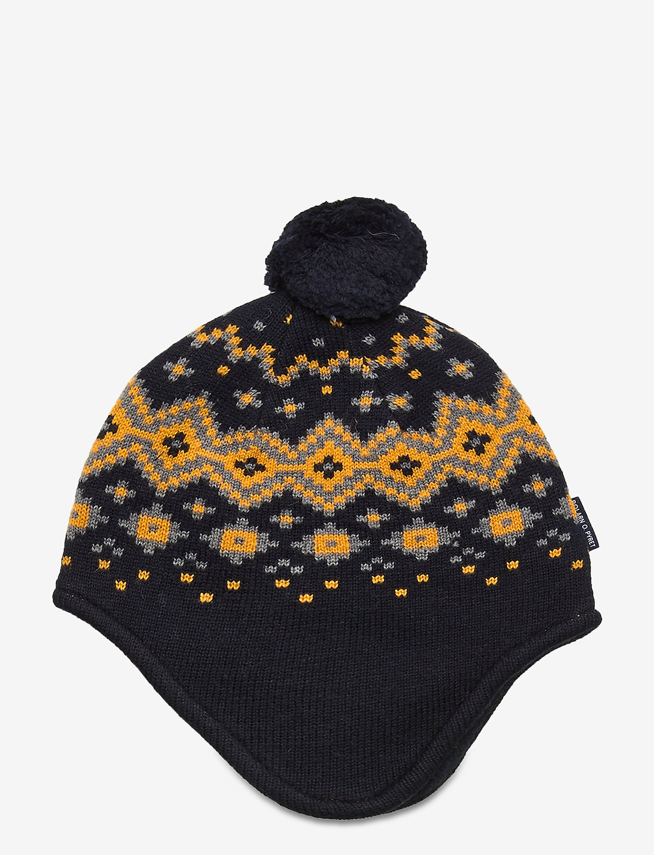 Polarn O. Pyret - Cap Knitted Baby - hoeden & handschoenen - dark sapphire - 1