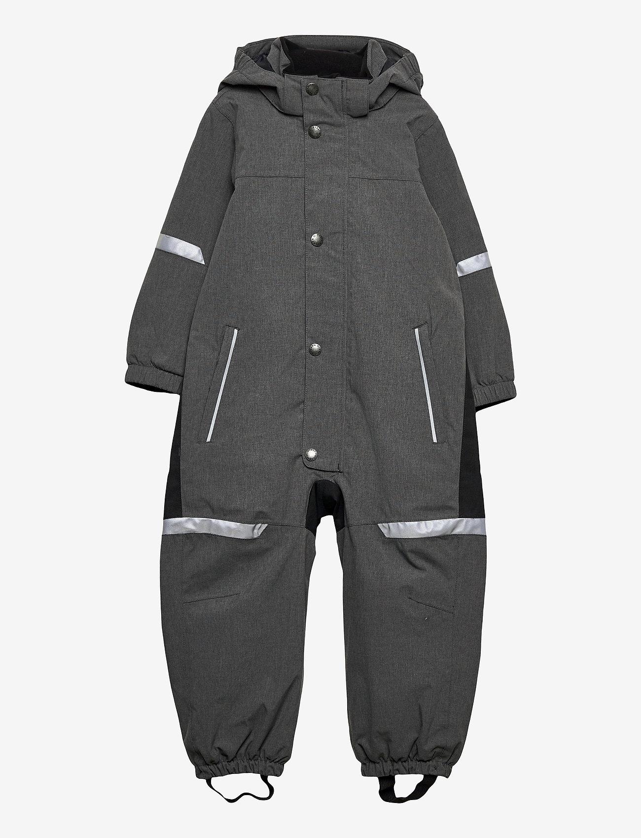 Polarn O. Pyret - Overall Shell Lined Preschool - shell clothing - gunmetal - 0