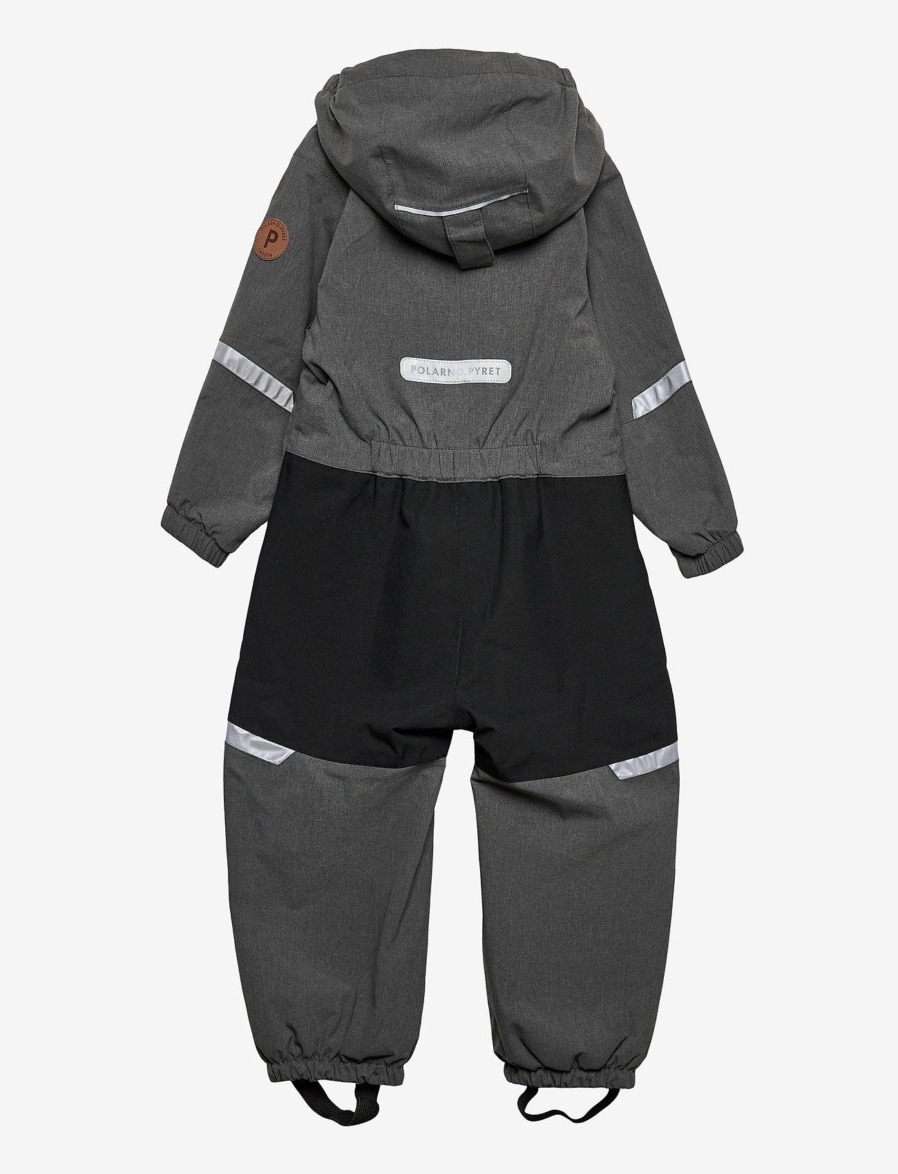 Polarn O. Pyret - Overall Shell Lined Preschool - shell clothing - gunmetal - 1