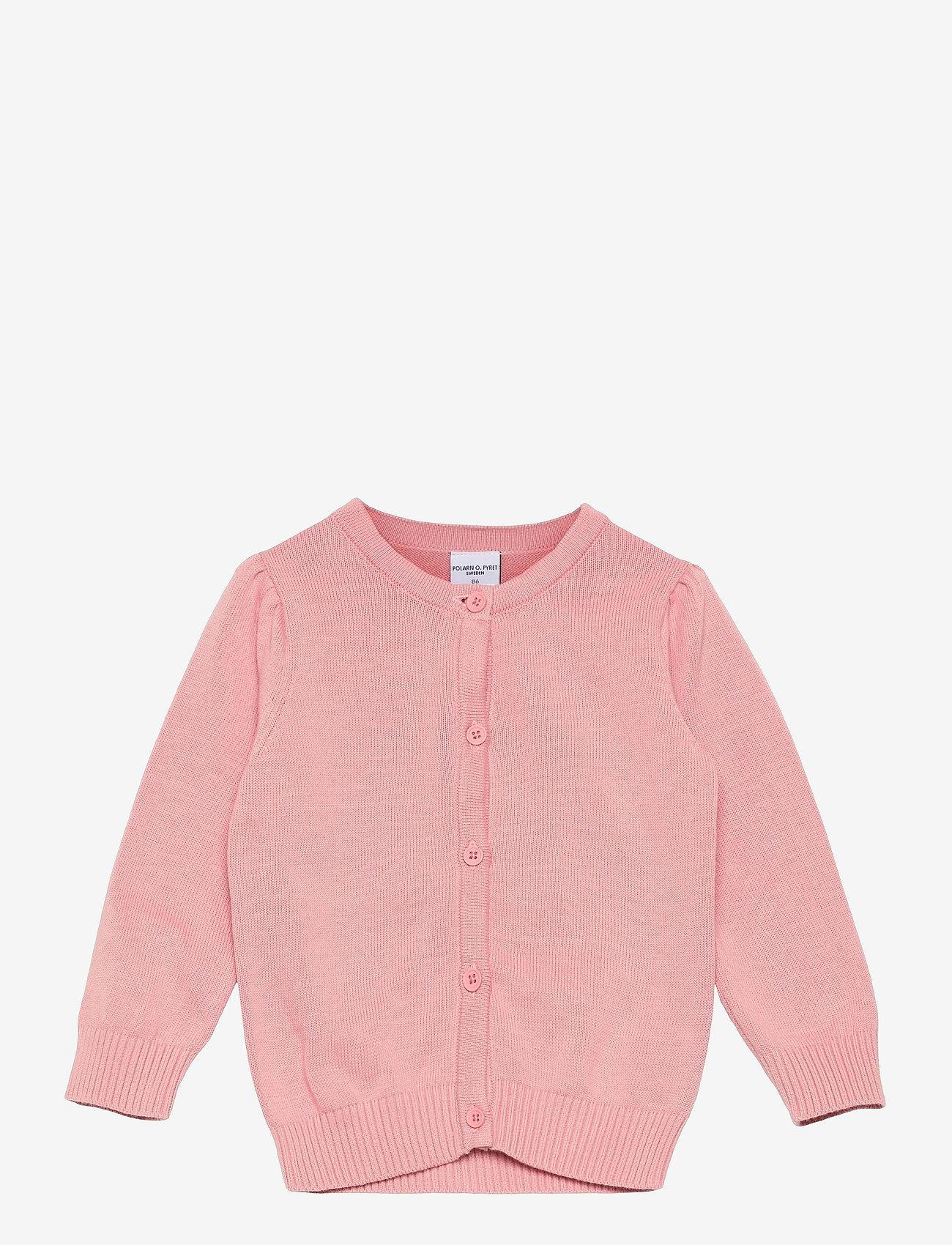 Polarn O. Pyret - Cardigan Knitted Solid Preschool - gilets - bridal rose - 0