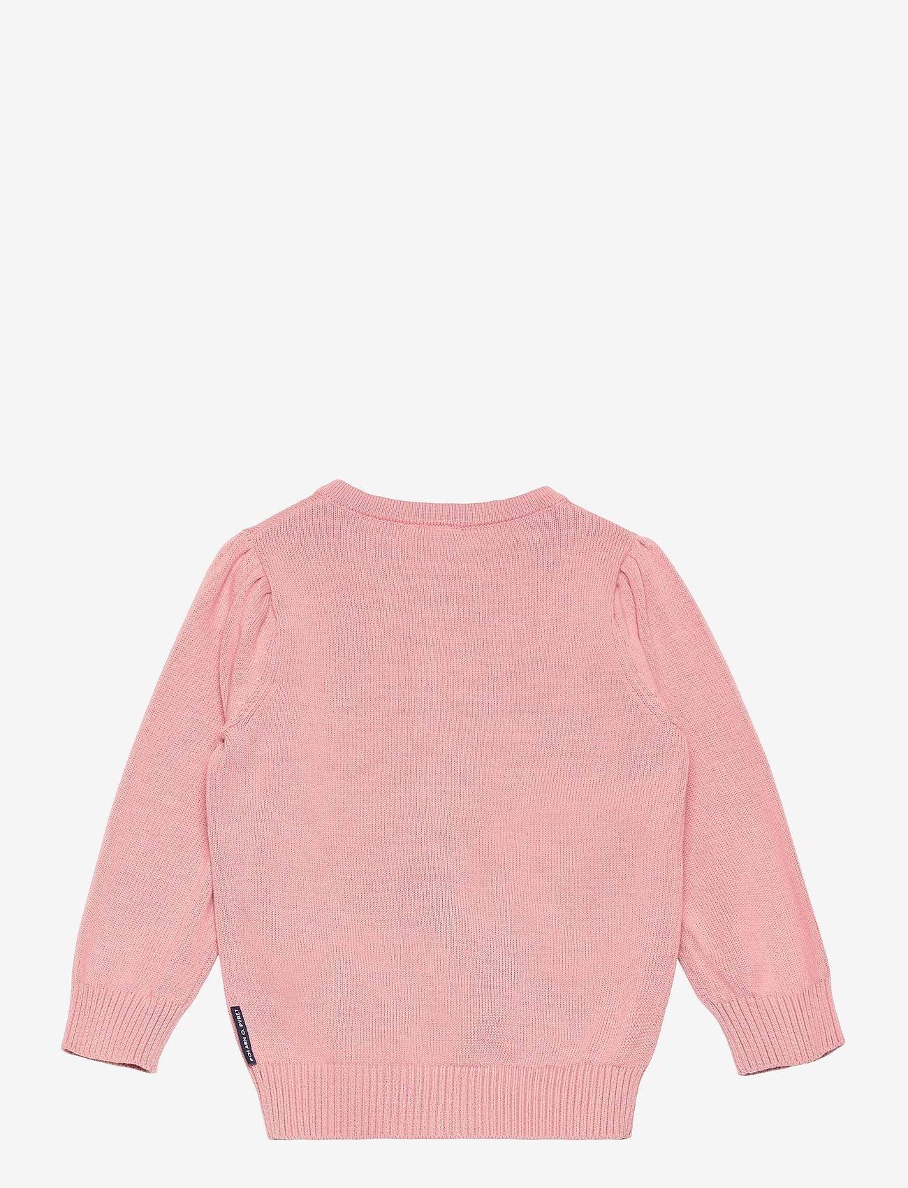 Polarn O. Pyret - Cardigan Knitted Solid Preschool - gilets - bridal rose - 1