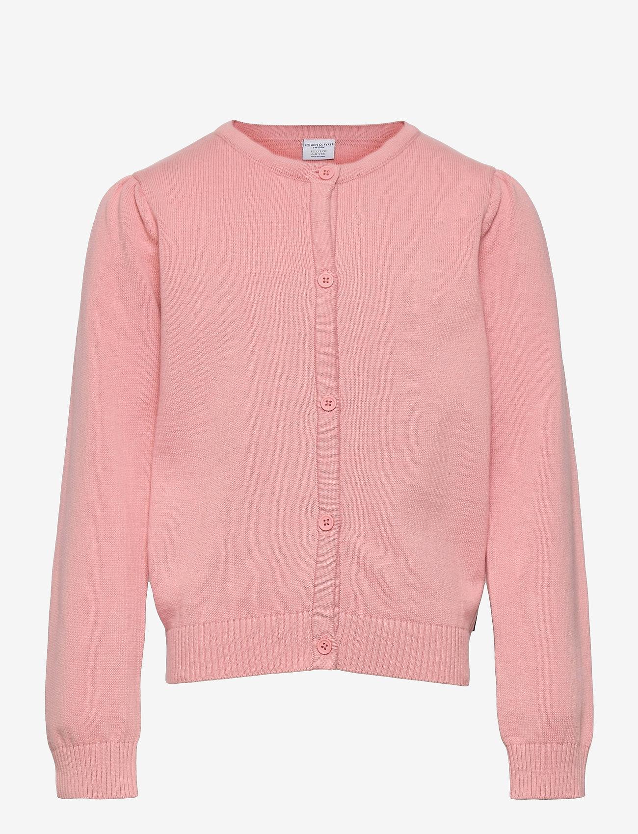 Polarn O. Pyret - Cardigan Knitted Solid School - bridal rose - 0