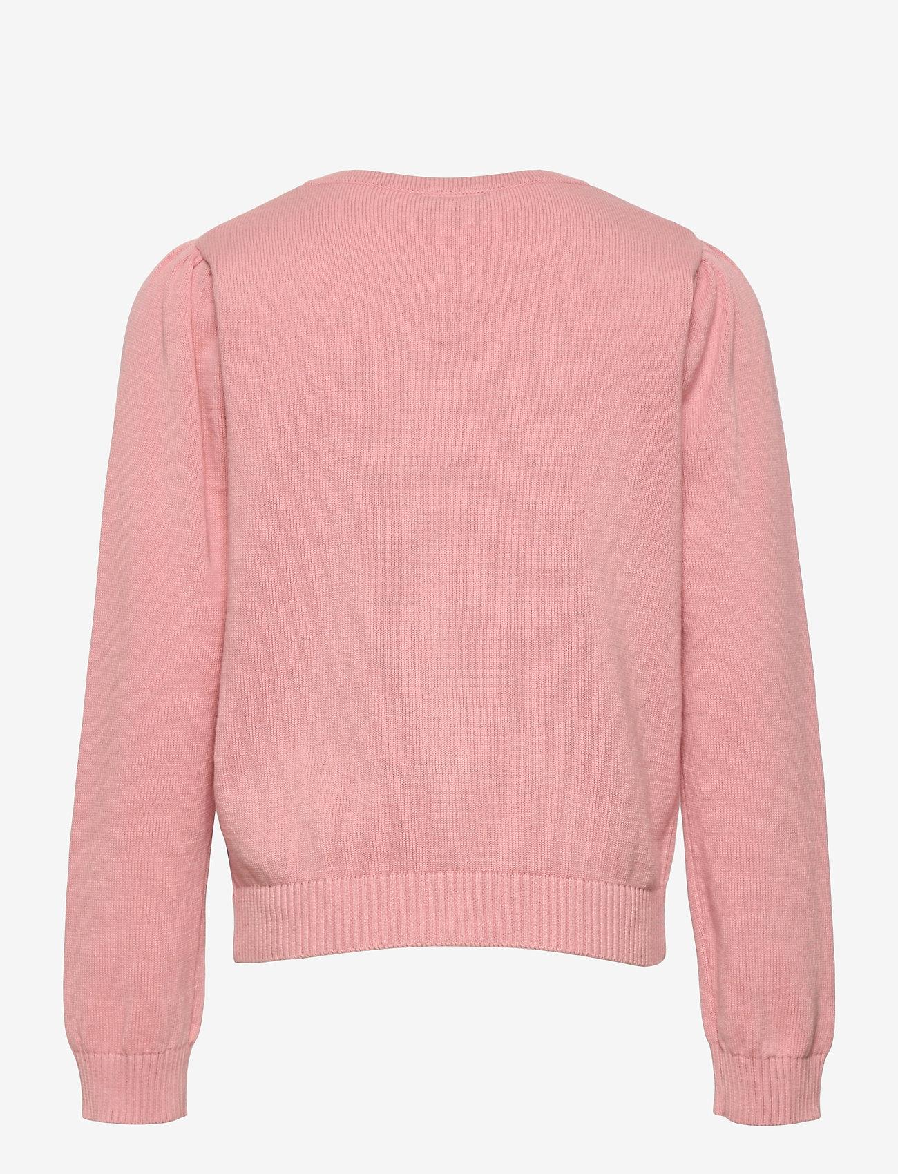 Polarn O. Pyret - Cardigan Knitted Solid School - bridal rose - 1
