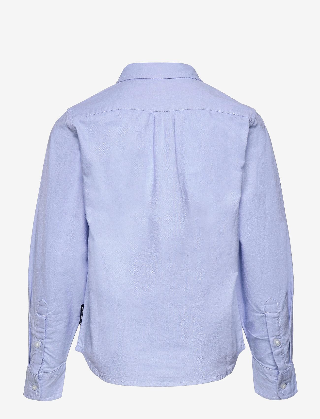 Polarn O. Pyret - Shirt Solid Oxford School - shirts - blue fog - 1