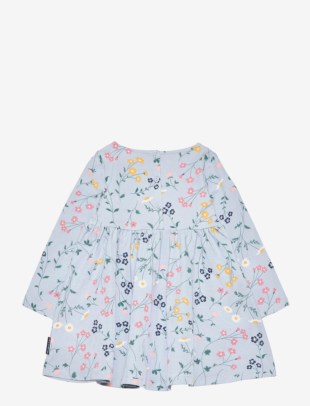 Polarn O. Pyret - Dress AOP jersey Preschool - kleider - blue fog - 1