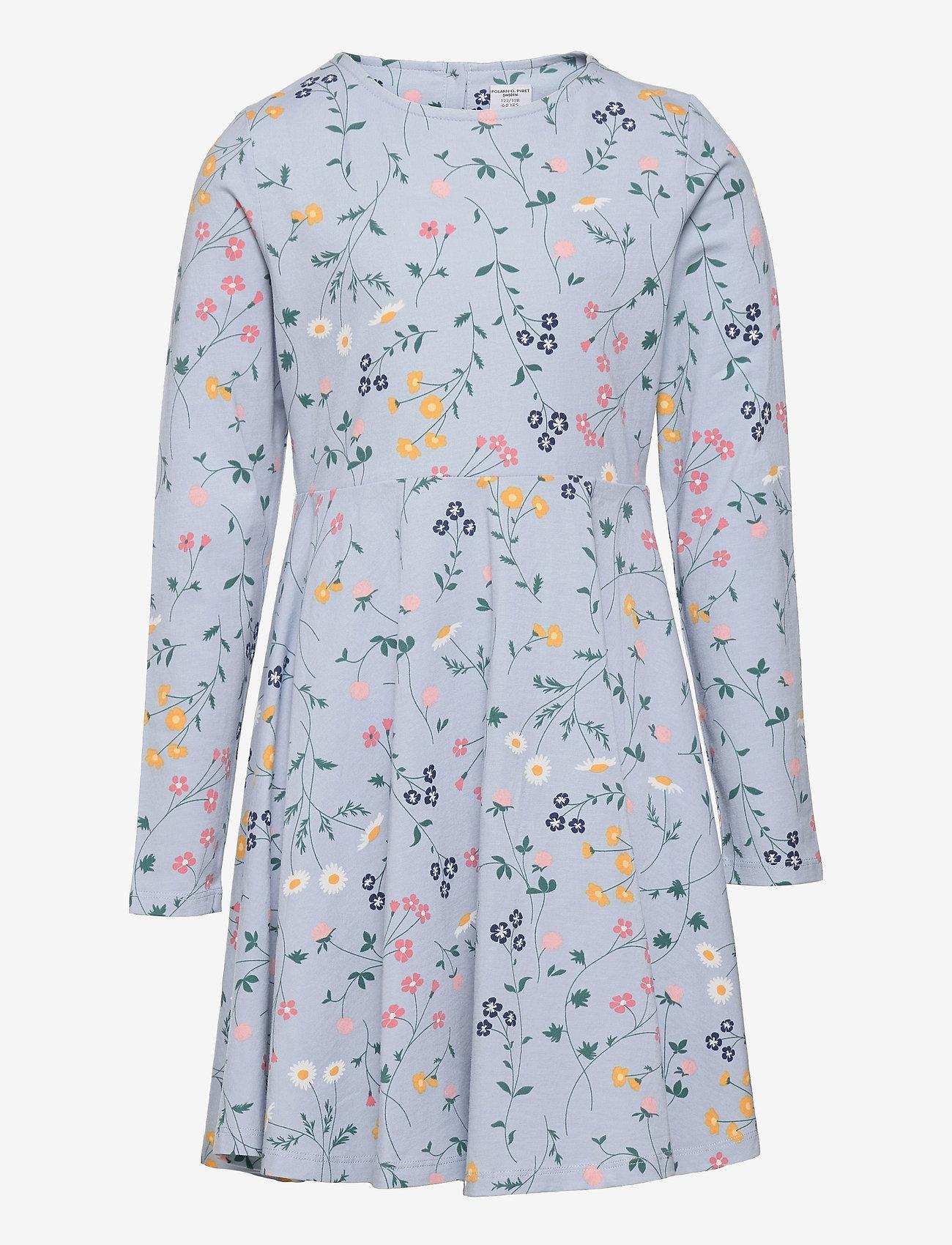Polarn O. Pyret - Dress AOP jersey School - kleider - blue fog - 0