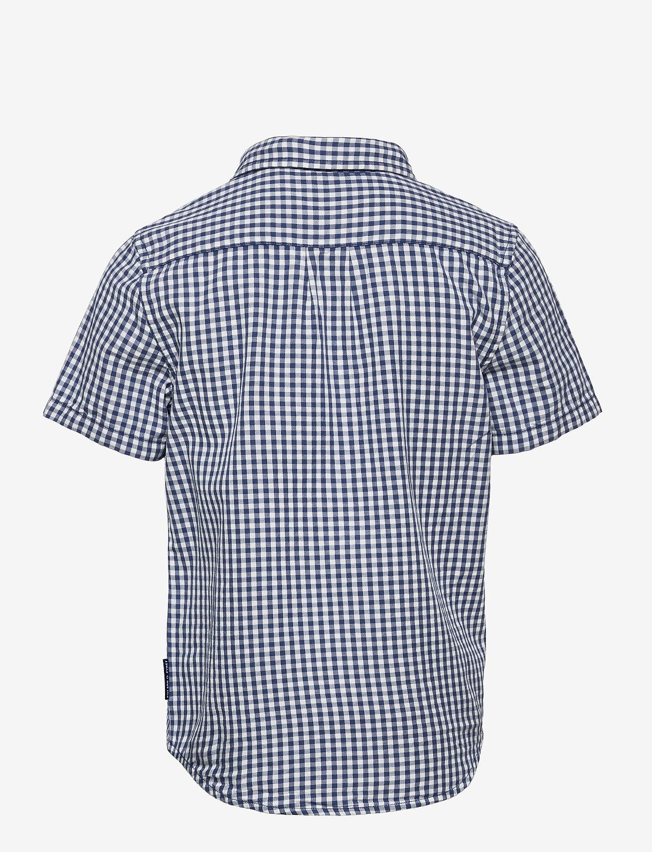 Polarn O. Pyret - Shirt checked s/s School - shirts - ensign blue - 1