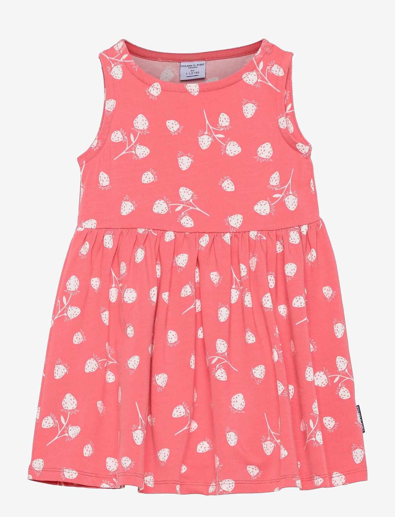 Polarn O. Pyret - Dress Jersey AOP s/s Preschool - kleider - tea rose - 0