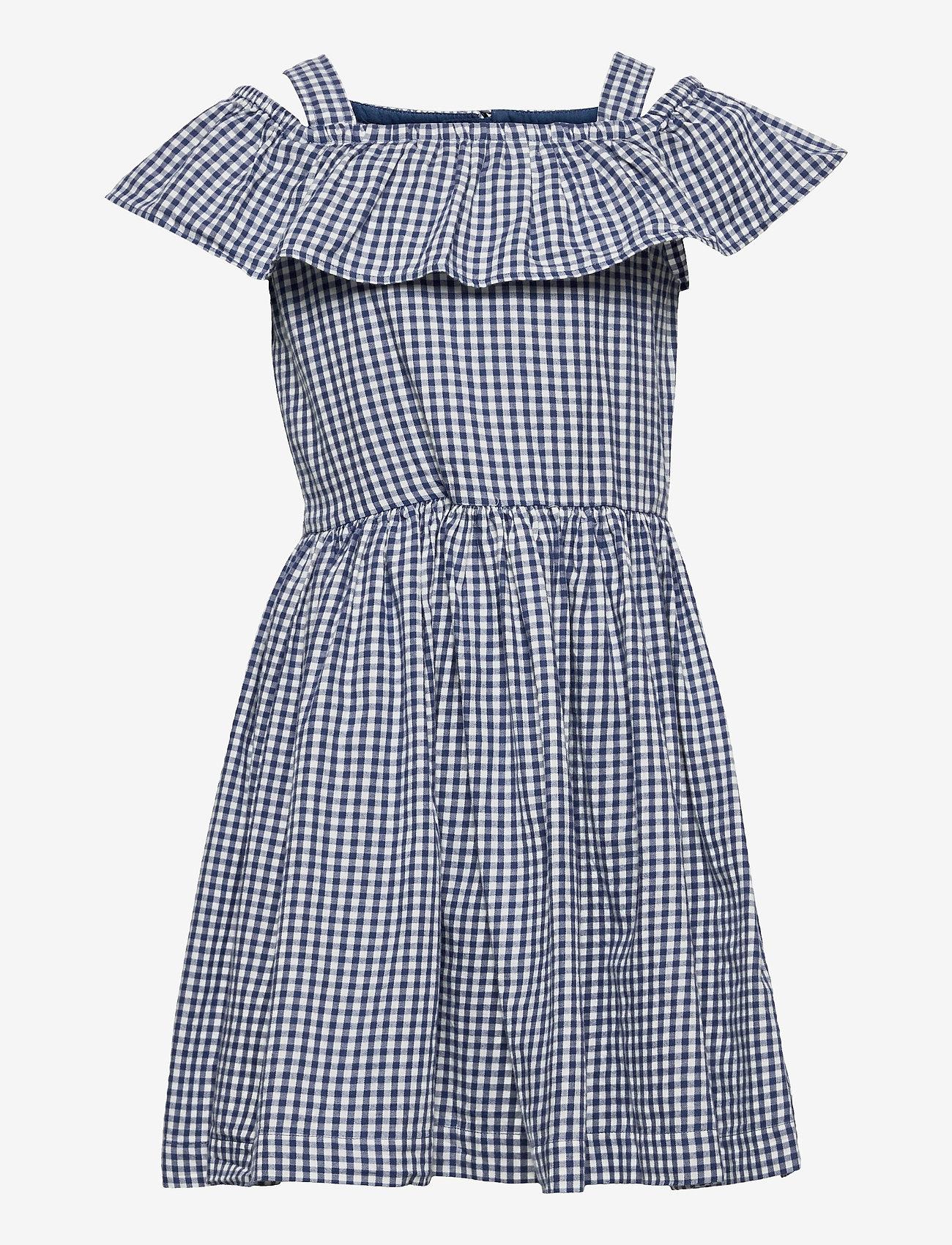 Polarn O. Pyret - Dress woven checked School - kleider - ensign blue - 0
