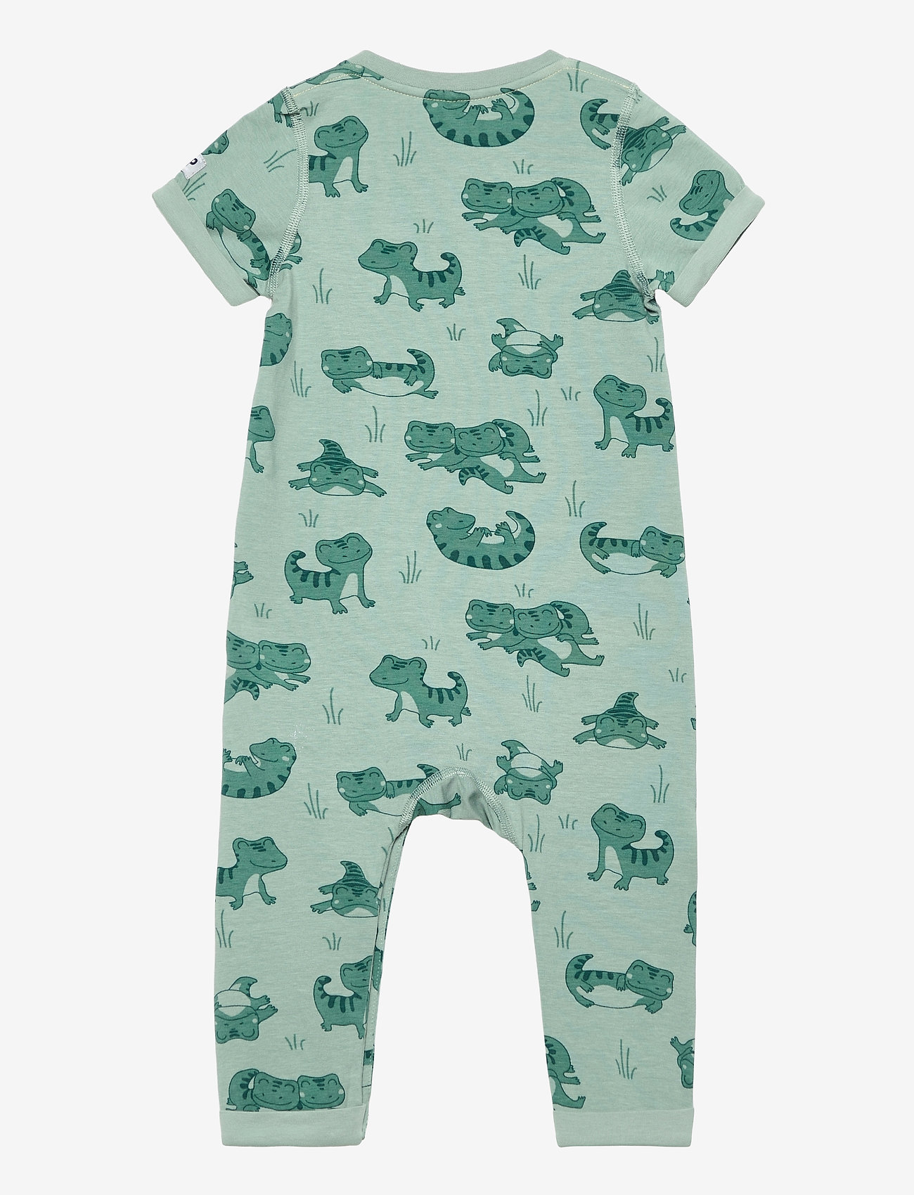 Polarn O. Pyret - Overall AOP Baby - kurzärmelig - green milieu - 1