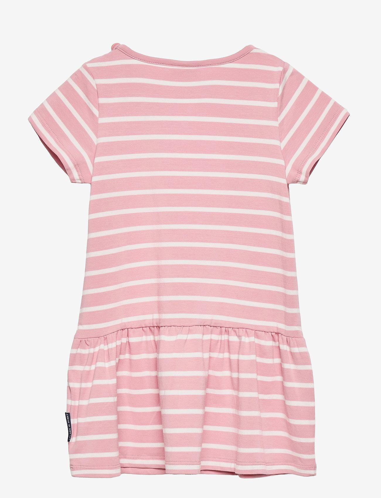 Polarn O. Pyret - Dress jersey striped s/s Preschool - kleider - bridal rose - 1
