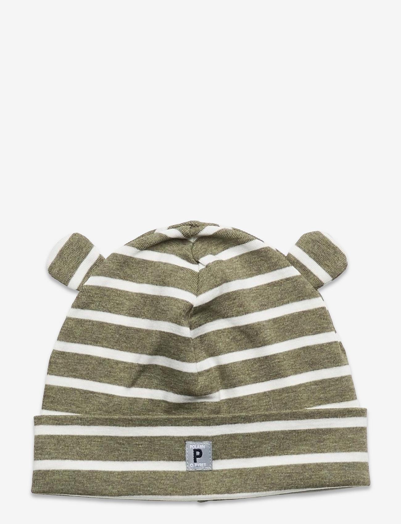 Polarn O. Pyret - Cap Striped Baby - babyhuer - green melange - 0