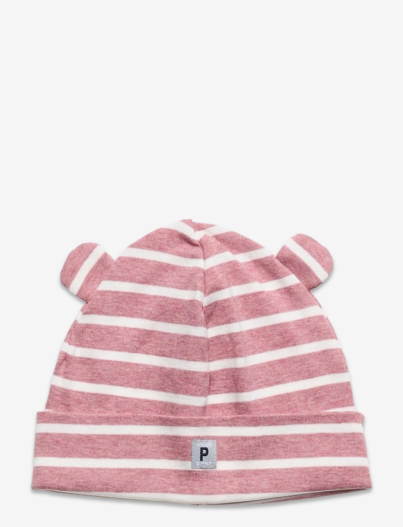 Polarn O. Pyret - Cap Striped Baby - babyhuer - pink melange - 0
