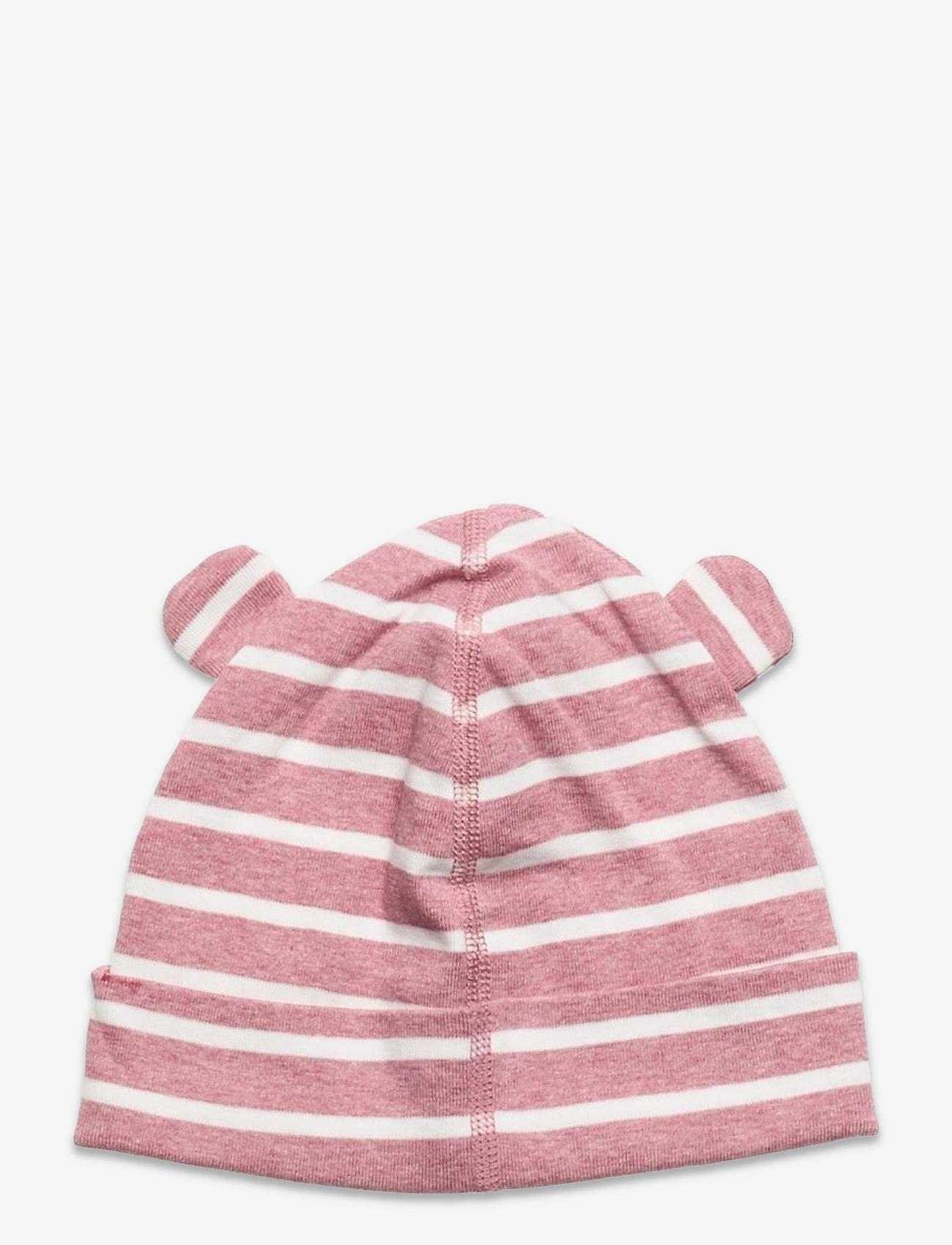 Polarn O. Pyret - Cap Striped Baby - babyhuer - pink melange - 1