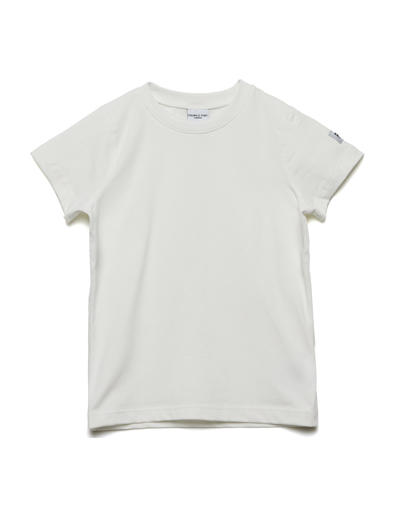 Polarn O. Pyret T-shirt Solid s/s - SNOW WHITE