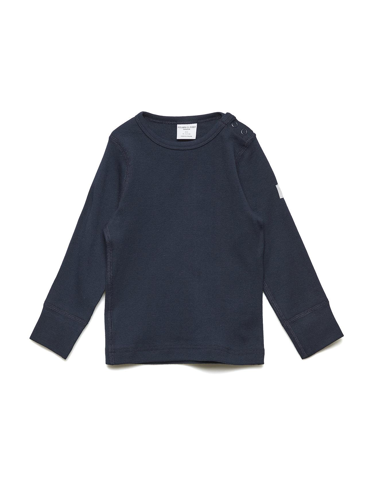 Polarn O. Pyret T-shirt Solid l/s Baby - DARK SAPPHIRE