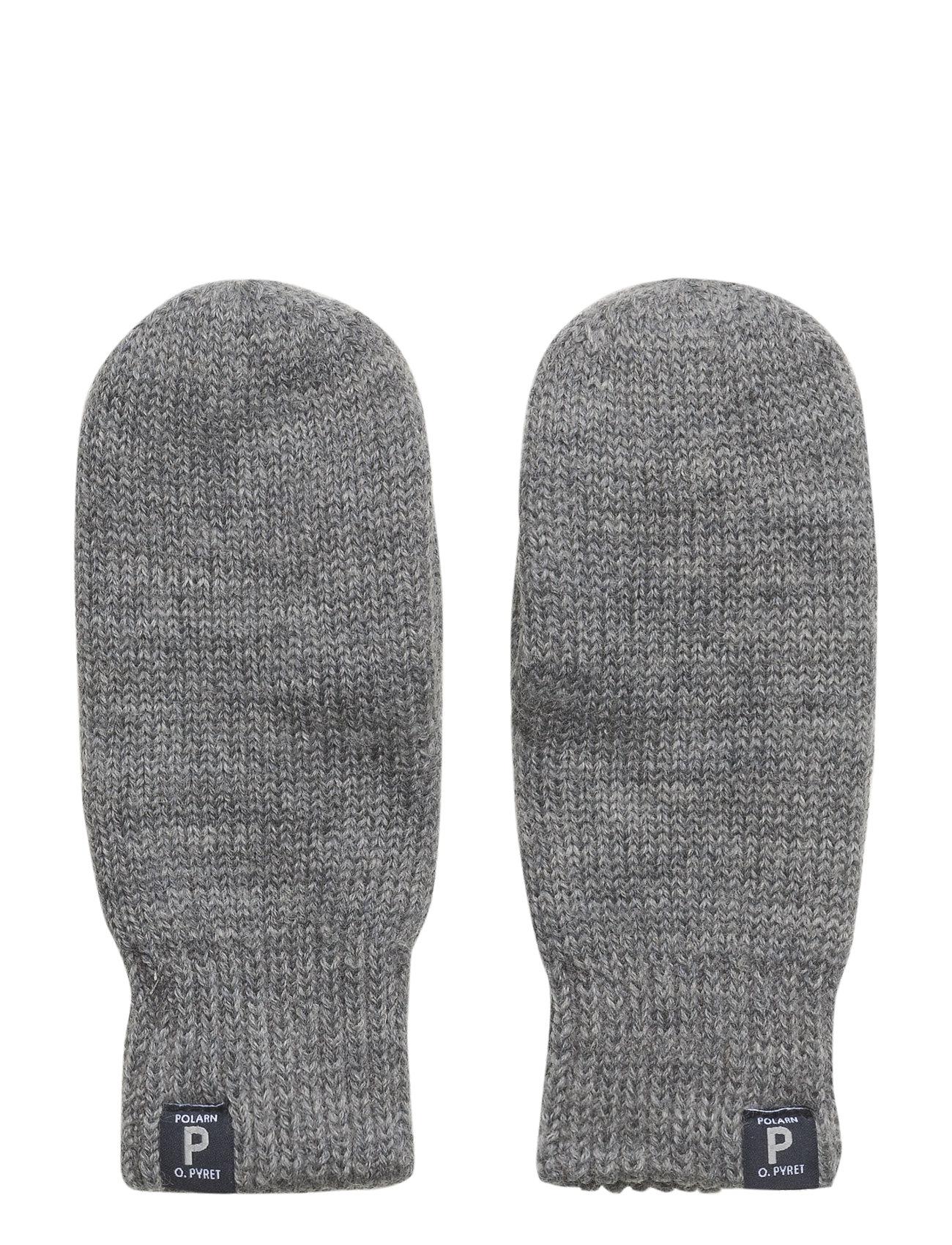 Polarn O. Pyret Mitten Wool Preschool - GREYMELANGE