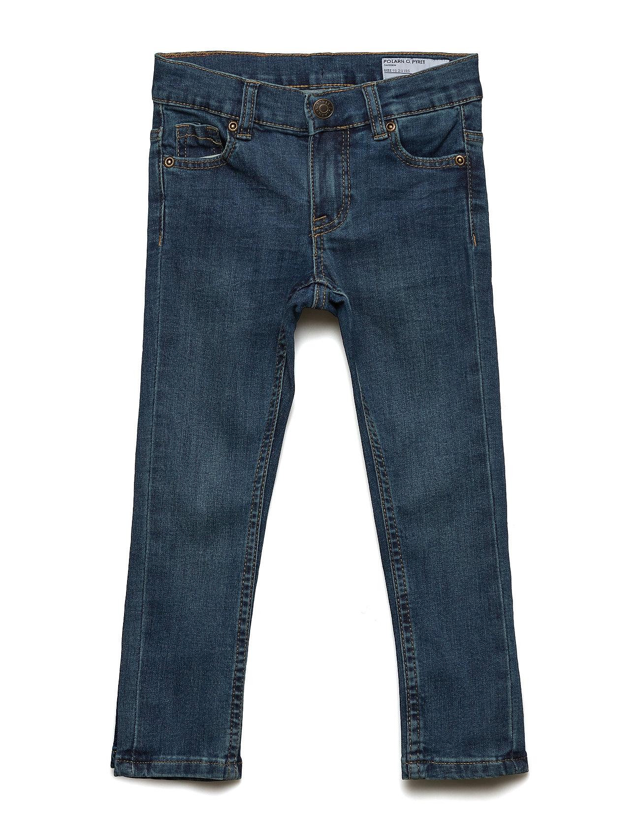 Polarn O. Pyret Trousers Woven Pre-school - BLUE DENIM