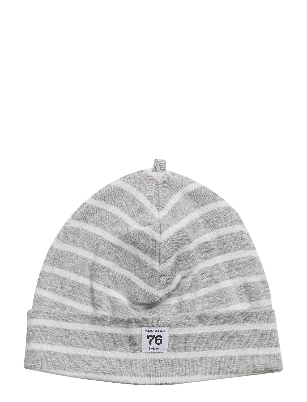 Polarn O. Pyret Cap PO.P Stripe - GREYMELANGE