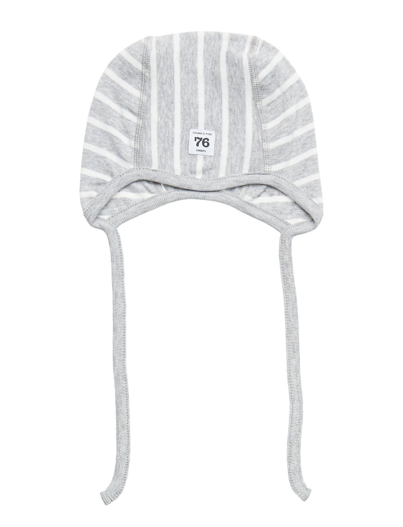 Polarn O. Pyret Helmet PO.P Stripe Newborn - GREYMELANGE