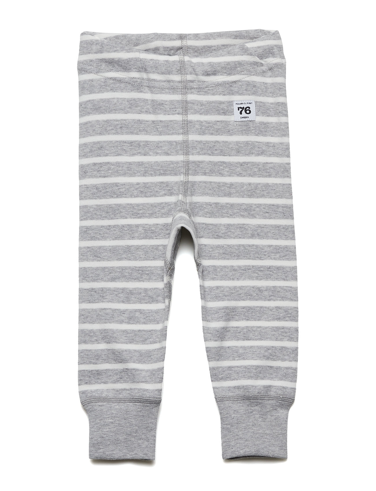 Polarn O. Pyret Long Johns PO.P Stripe - GREYMELANGE