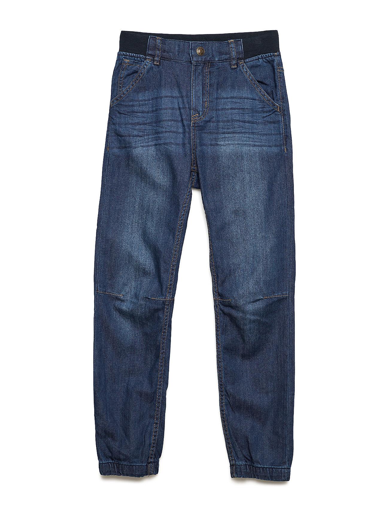 Polarn O. Pyret Trousers Woven School - BLUE DENIM