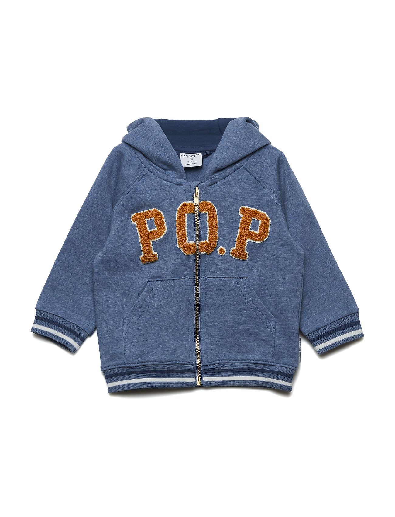 Polarn O. Pyret Sweatshirt Applique NB - CORONET BLUE