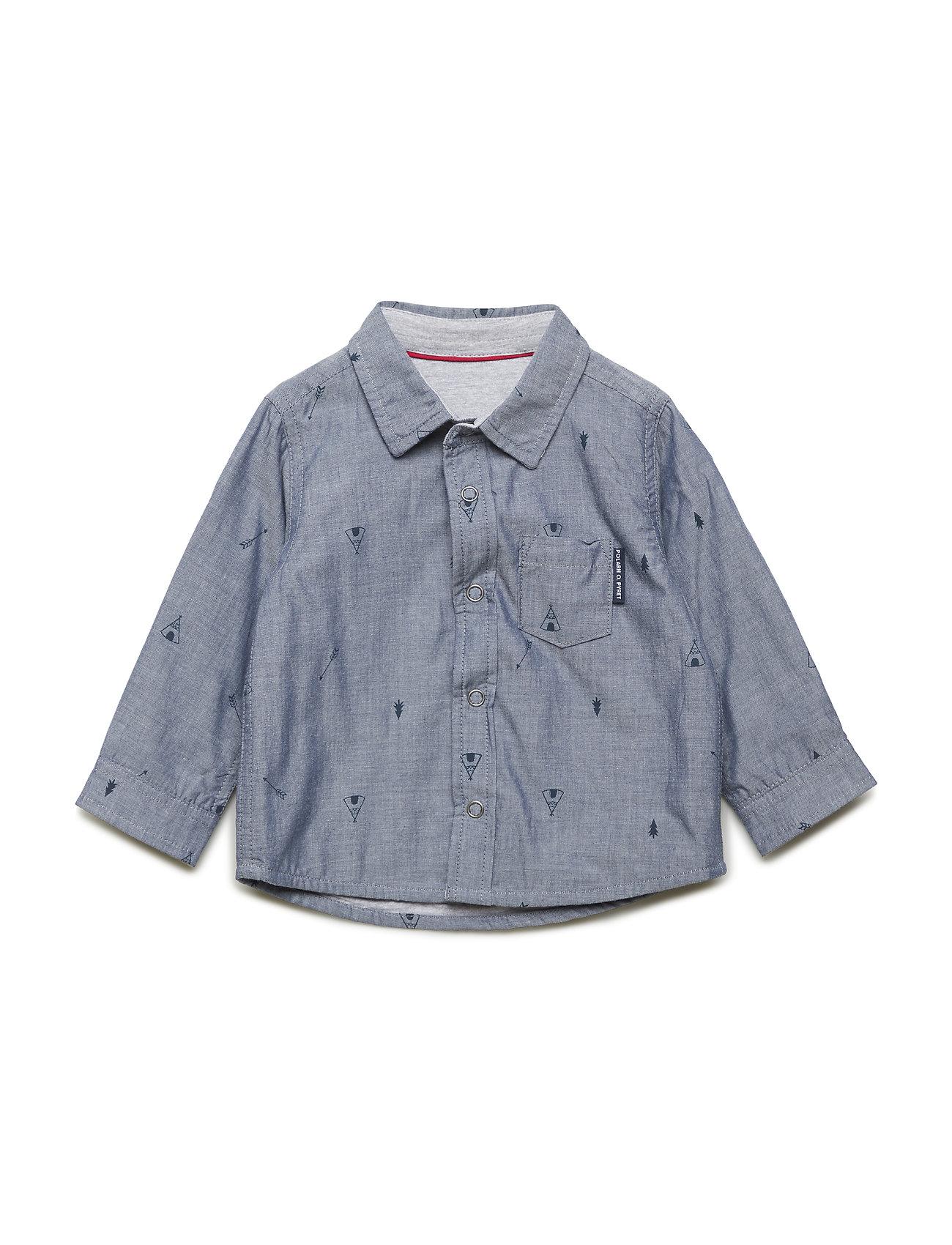 Polarn O. Pyret Shirt long sleeve AOP - CORONET BLUE